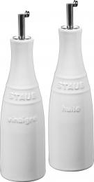 Staub Keramik Öl & Essig Set Ölsprayer Essigspayer rund Reinweiß 0,25L