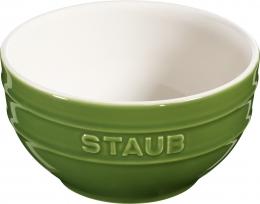 Staub Keramik Schüssel Schale Obstschüssel rund Basilikumgrün 14cm