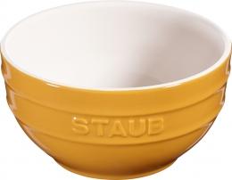 Staub Keramik Schüssel Schale Obstschüssel rund Senfgelb 14cm