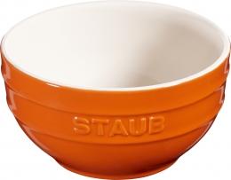 Staub Keramik Schüssel Schale Obstschüssel rund Orange 14cm