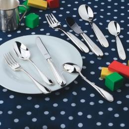 Wilkens 4-tlg. Kinderbesteck Schwedisch Faden in 925 Sterlingsilber