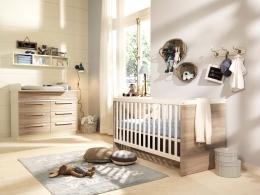 Wellemöbel Jette Babyzimmer Kinderzimmer Gitterbett Wandboard Wickelkommode