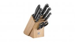 Zwilling TWIN Chef 2 Messerblock, Bambus, 8-tlg. Küchenmesser Messer Fleischmesser Kochmesser