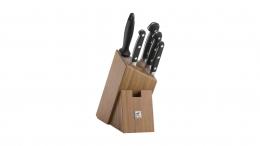 Zwilling® Pro Messerblock, Bambus, 6-tlg. Küchenmesser Messer Fleischmesser Kochmesser