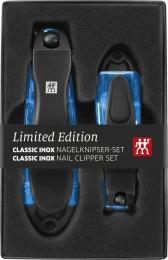ZWILLING Classic INOX 2er Set Nagelknipser mit Nagelfeile blau Maniküre Pediküre