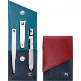 Zwilling  CLASSIC INOX  hochwertige Etui aus 3-farbigem Leder, 3 tlg.