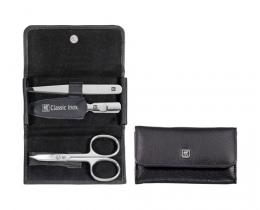 Zwilling CLASSIC INOX Maniküreset  Taschen-Etui, Rindleder, schwarz, 3-tlg.