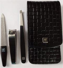 Zwilling  CLASSIC INOX  hochwertige Schwarz Etui geflochten 3 tlg.Polierter Edelstahl Zeitloses Design