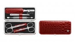 ZWILLING  Classic Inox Rahmen-Etui, Manicure Etui Nagelpflegeset rot 5-tlg.