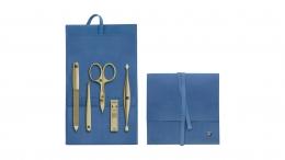 ZWILLING J.A. HENCKELS TWINOX Gold Edition Taschen Etui 5-tlg., blau Manicure Nagelplfege