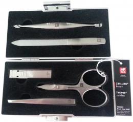 ZWILLING TWINOX Aluminium Koffer 5-tlg. Manicure Nagelplfege Maniküre