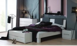 Massivholzbett Buche weiß lackiert 160 x 200 cm Doppelbett Schlafzimmer